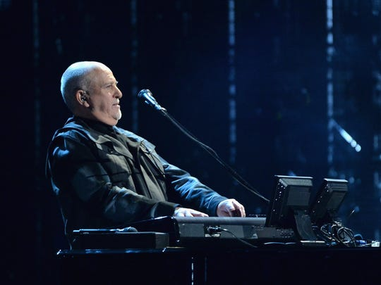 Peter Gabriel performs onstage at the 29th Annual Rock And Roll Hall Of Fame Induction Ceremony at Barclays Center of Brooklyn on April 10, 2014 in New York City.