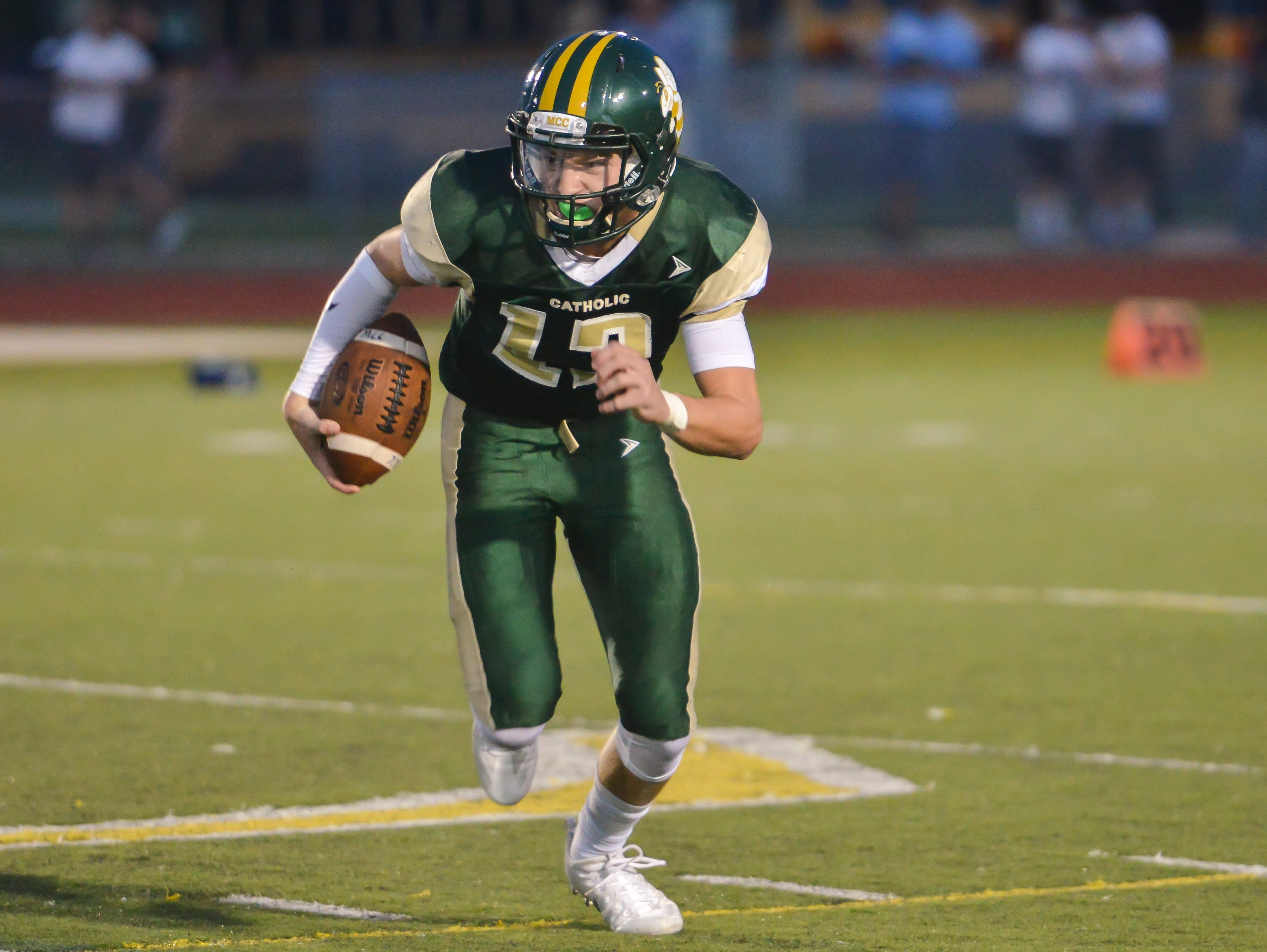 MCC quarterback Joaquin Collazo was voted FLORIDA TODAY's High School Athlete of the Week for Sept. 19-25.