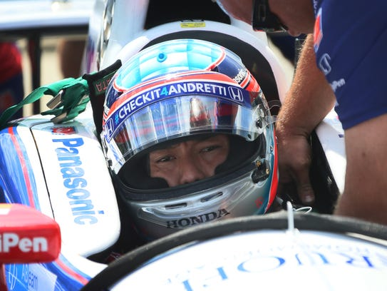 Takuma Sato, who drives the No. 26 Andretti Autosport