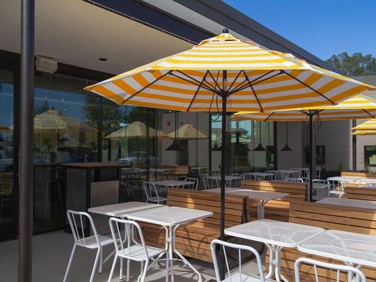 A view of the patio at the Original ChopShop Arcadia location in Phoenix.