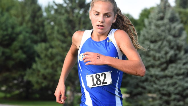 Alea Hardie  wins the girls 5k run on Tuesday, Aug. 28, 2018 at Kuehn Park in Sioux Falls, S.D.