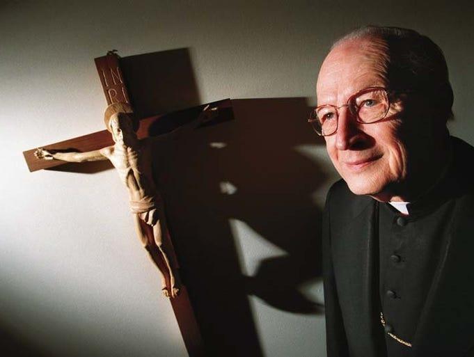 Cardinal Edmund Szoka at Sacred Heart Seminary in Detroit. Photograph taken Jan. 21, 1998.