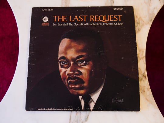 "March 16, 2017 - A copy of jazz saxophonist Ben Branch's album, ""The Last Request,"" rests on a table at the home of his widow, Vivian Branch. Mr. Branch was the musician who spoke to Dr. Martin Luther King Jr. moments before he was shot at the Lorraine Motel on April 4, 1968. Mrs. Branch said King asked her husband to play ""Precious Lord"" and to play it real pretty. ""And Ben said he told him, 'You know I will,' Branch recalled. ""He said as soon as he said that, shots came from behind them, which is from the west side, and Dr. King hit the balcony. Nobody was on the balcony but Dr. King at the time from my understanding."""