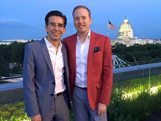 Thomas Sanchez, left, and Anthony Shop live in Washington,