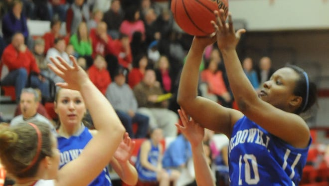 McDowell's Markia Stacey (10) was last season's Mountain Athletic Conference Player of the Year for girls basketball.