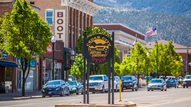 Downtown Cedar City.