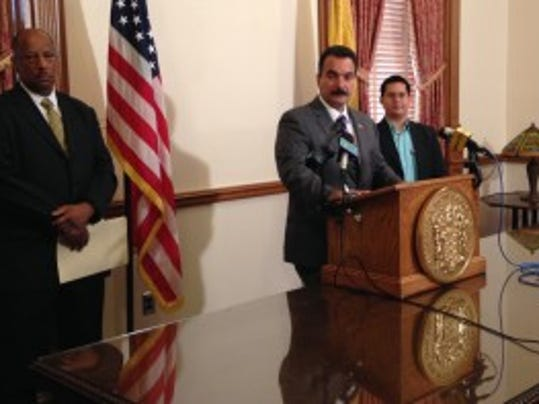Assembly Speaker Vincent Prieto at a Statehouse news conference on July 2, 2014. (Michael Symons/Asbury Park Press)
