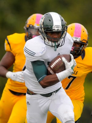 Donovan Johnson scores for Detroit Cass Tech during its Week 6 win over East English Village.