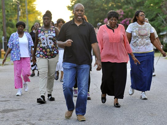 Members of the City View Community Coalition, led by