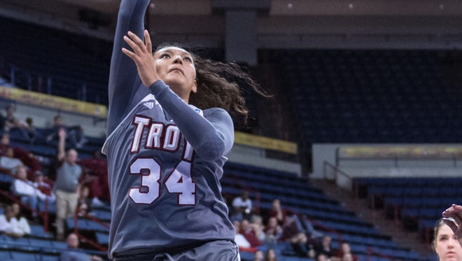 Caitlyn Ramirez says the Troy women aren't just happy to make the NCAA Tournament. The Trojans want to win a game.