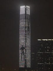 "Jim Campbell's ""Eternal Recurrence"" lit up Hong Kong's"