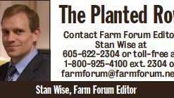 Stan Wise, Farm Forum Editor