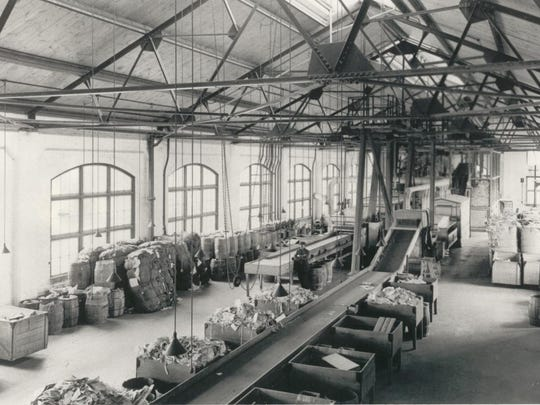 Inside Paper Machine One Building - Early 1900's.JPG