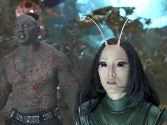This image released by Disney-Marvel shows David Bautista,