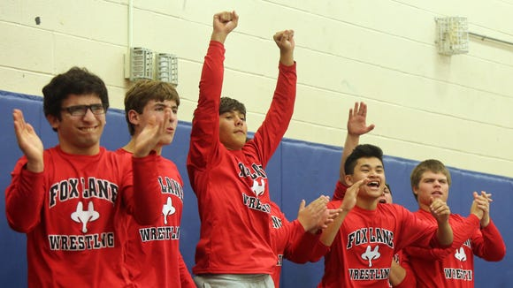 Fox Lane celebrates their teammate Jimmy Tapia win