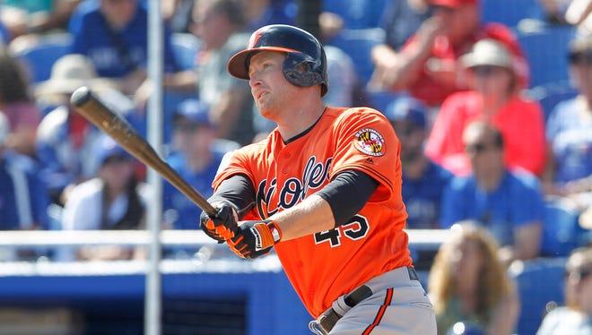 Mark Trumbo has slugged 11 home runs.