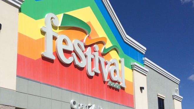 Festival Food's rainbow banner arrives in Menasha in June.