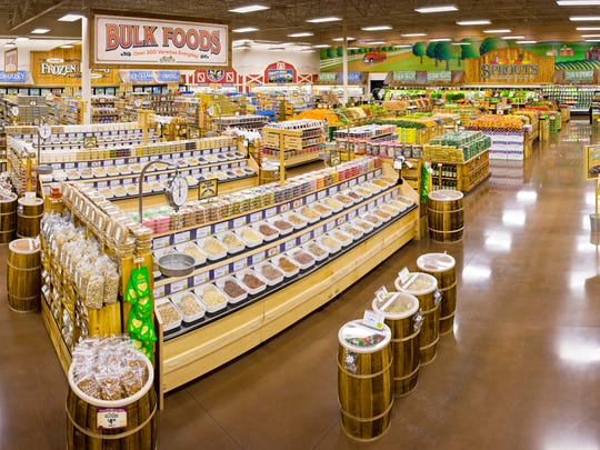 The first regional store for Phoenix-based Sprouts Farmers Market will anchor The Landings at Logan, site development permit plans show.