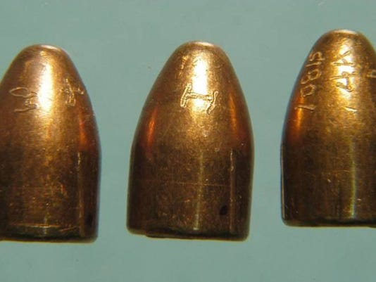 Test-fired bullets