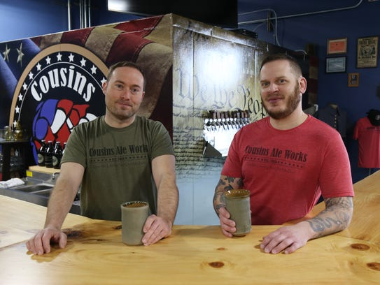 From left, co-owner Chris Dorn and head brewer, Aaron