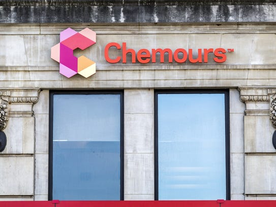 The Chemours Building in Downtown Wilmington on Wednesday