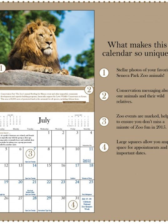 Zoo Calendar : The seneca park zoo calendar