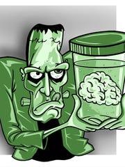 Illustration of Frankenstein.
