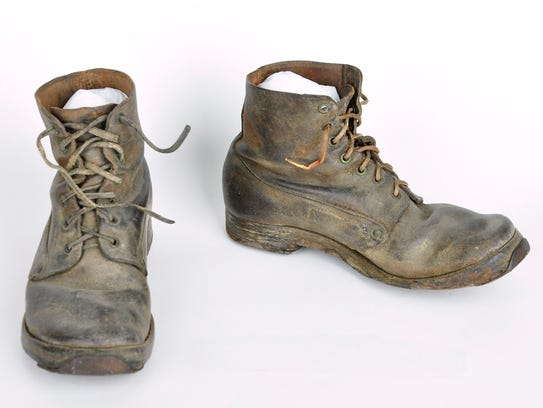 Henry Kleist of Kenosha was issued these boots by the