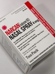 In this photo illustration, a package of NARCAN (Naloxone)
