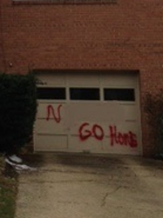 Racial slur painted on mont co home for Garage ad colleville montgomery