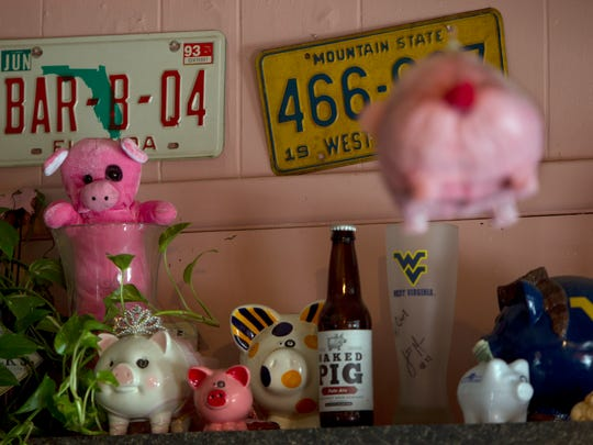 Decor at the Black Eyed Pig in Naples.