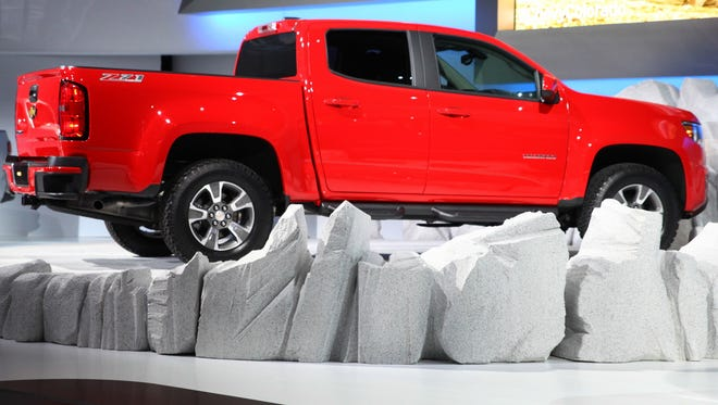 Chevrolet unveiled the new Colorado pick up truck last year at the L.A. Auto Show