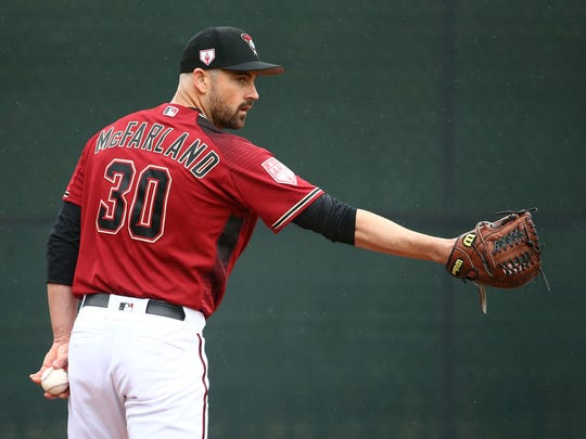Arizona Diamondbacks pitcher T.J. McFarland during