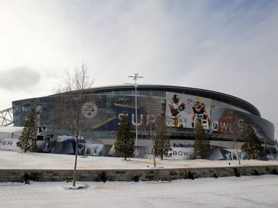 Cowboys Stadium in Dallas was encountering unusual winter weather in the days leading up to Super Bowl XLV.