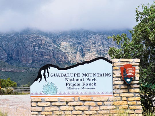The entrance to Guadalupe Mountains National Park's