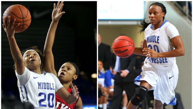 Ty Petty (left) carries on the legacy of former Lady Raider Tina Stewart.