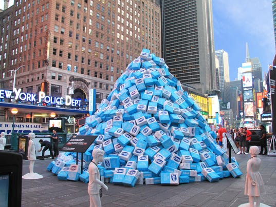 Sugar dumped in times square