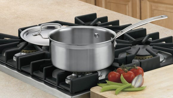 Chef up a soup or pasta in this saucepan.