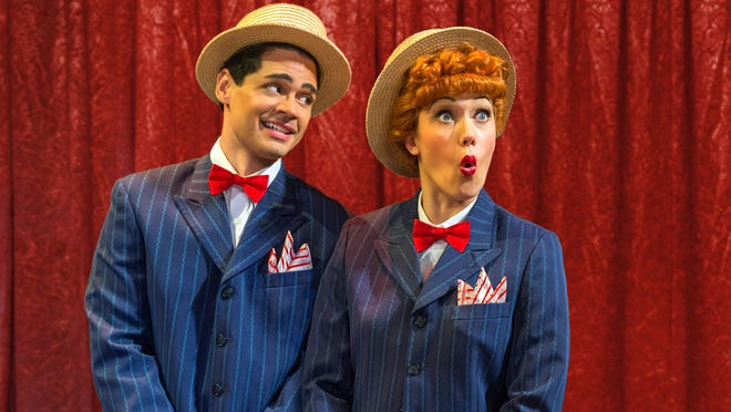 """Euriamis Losada (Ricky Ricardo) and Thea Brooks (Lucy Ricardo) in the nationaltour of """"I Love Lucy Live on Stage."""""""