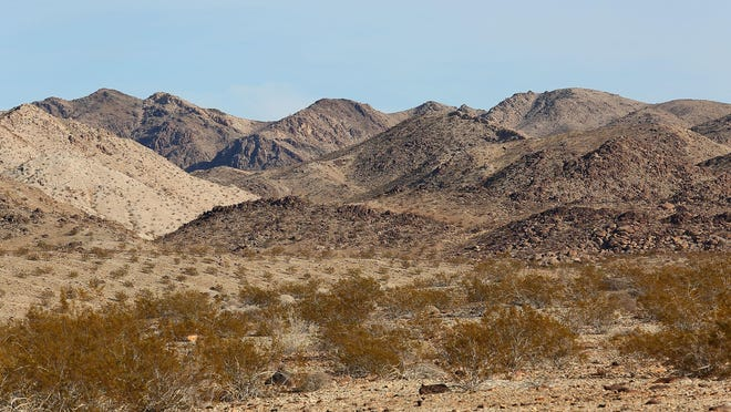 The foothills of Eagle Mountain can be seen from the edge of Joshua Tree National Park on Nov. 18, 2014.