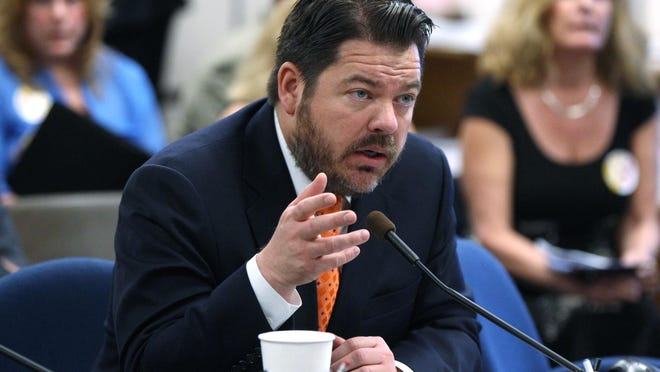 Nevada Senate Minority Leader Michael Roberson, R-Las Vegas, has is pictured at the Nevada Capitol in 2013.