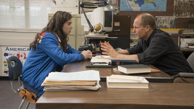 """Hailee Steinfeld and Woody Harrelson in """"The Edge of Seventeen"""""""