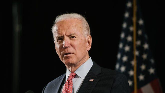 Former Vice President Joe Biden the Democratic Party's presumptive presidential nominee, in Wilmington, Del. on March 12.