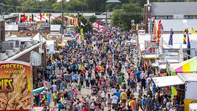 Thousands of people attend the Kansas State Fair on Sept. 17, 2016.