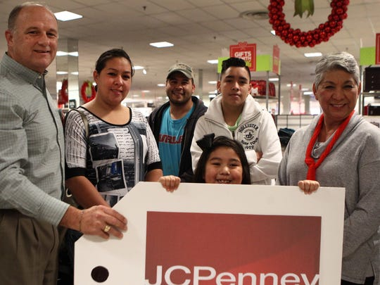 The family of Analisa Aguirre and Erick Sanchez, who lost their home and possessions in a fire, received $1,700 in JCPenney gift cards donated by shoppers at the San Angelo department store.