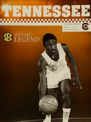 Johnny Darden made the cover of a basketball program