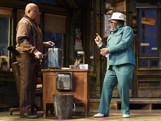 "Keith Randolph Smith (left) and Harvy Blanks in ""Jitney."""