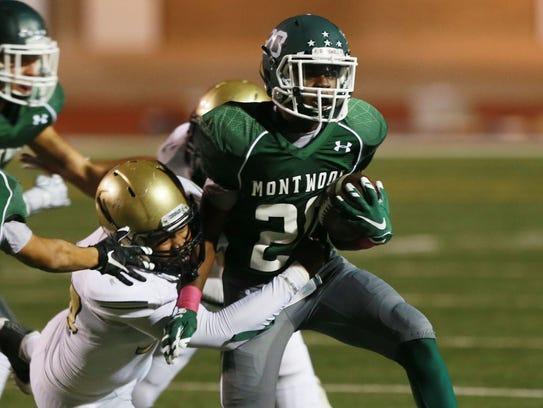 Montwood's Tyreese Andrus was brought down by Coronado's
