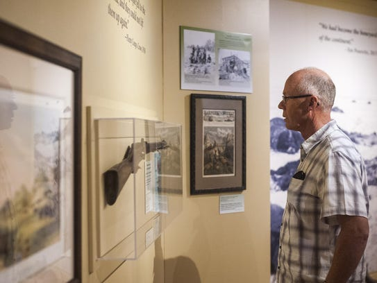Wes Coleman browses the Montana Historical Society's
