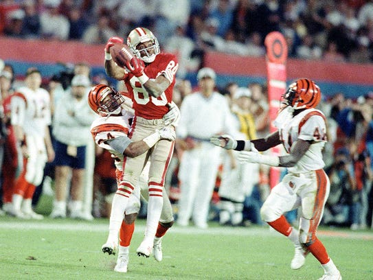 Jerry Rice made this reception for 27 yards on second